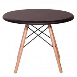 میز عسلی گرد با پایه ایفلی چوبی مدل TI1