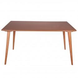 میز روکش طبیعی با پایه چوبی تک مدل TW2
