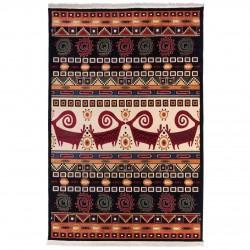 فرش ماشینی 500 شانه دنیای فرش طرح گبه عشایری کد 1025