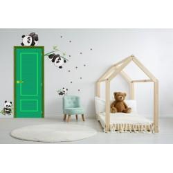استیکر اتاق کودک مدل پاندای تنبل