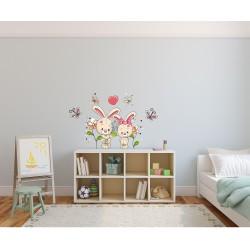 استیکر اتاق کودک مدل دنیای خرگوشی