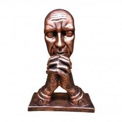 مجسمه رومیزی متفکر مسی