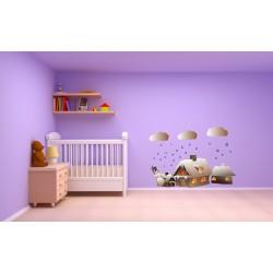 استیکر اتاق کودک مدل کلبه رویایی
