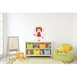 استیکر اتاق کودک مدل دختر عروسکی