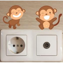 استیکر اتاق کودک مدل میمون بازیگوش