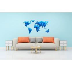 استیکر اتاق کودک مدل نقشه جهان