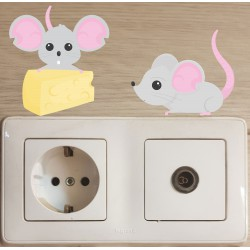 استیکر اتاق کودک مدل موش موشک