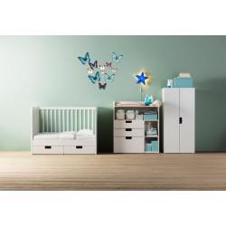 استیکر اتاق کودک مدل پروانه