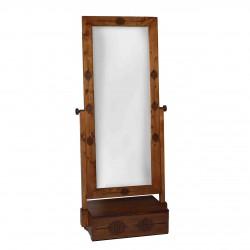 آینه تک کشوعباسی قهوهای