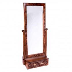 آینه ایستاده تک کشو منبت