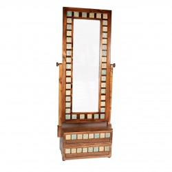 آینه ایستاده دو کشو طلایی کد 2286