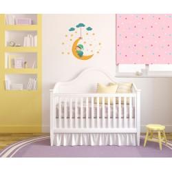 استیکر اتاق کودک مدل کودک و ماه