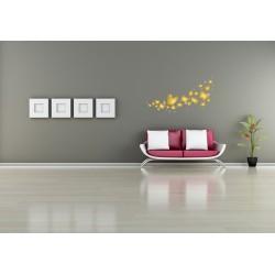 استیکر اتاق کودک مدل پروانه طلایی