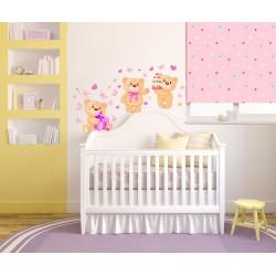 استیکر اتاق کودک مدل تولد خرس ها