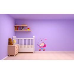 استیکر اتاق کودک مدل بچه کوچک