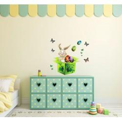 استیکر اتاق کودک مدل خرگوش در جعبه