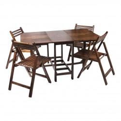 میز نهار خوری تاشو چوبی