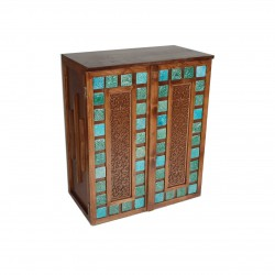 جاکفشی چوبی فیروزه ای
