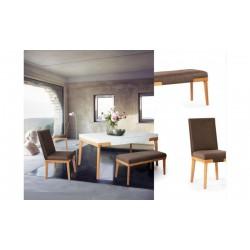 میز ناهارخوری نیمکتی سفید سورن