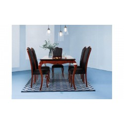 میز ناهار خوری قهوه ای براق صدفی