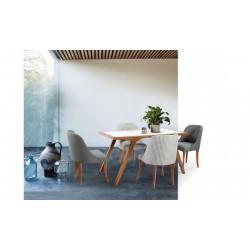 میز ناهار خوری مستطیل قهوه ای ونوس