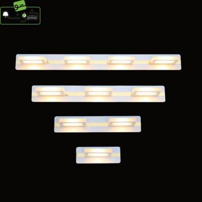 چراغ بالای آینه طلایی سفید A34