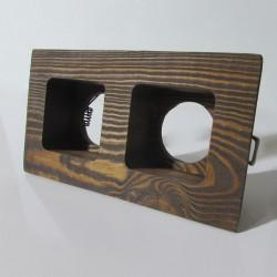 فریم هالوژن دوقلو چوبی کد 1282 (بافت زیبای چوب)