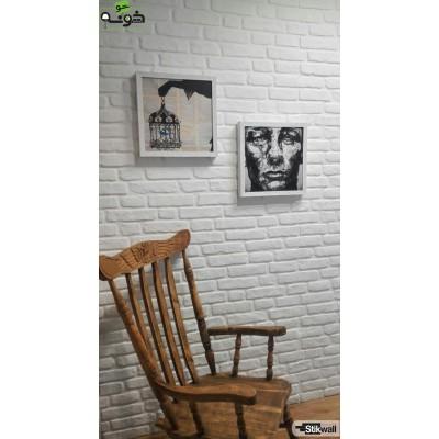 دیوارپوش طرح آجر سفید Stikwall