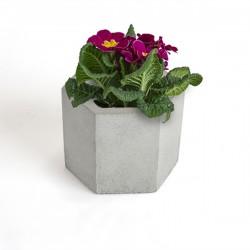 گلدان بتنی دکوسیتی طرح شش وجهی کد DCO18