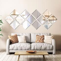 آینه دیواری دکوری مدل مربع