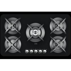 اجاق گاز رومیزی شیشه ای 5 شعله کن مدل Apple
