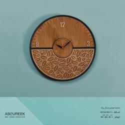 ساعت دیواری گرد میکس متال برگ آسوریک مدل MXSA29037