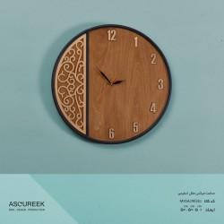 ساعت دیواری گرد میکس متال اسلیمی آسوریک مدل MXSA29038