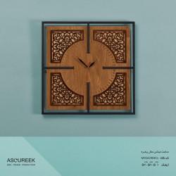 ساعت دیواری میکس متال پنجره آسوریک مدل MXSA29040