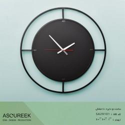 ساعت دیواری دو دایره مشکی آسوریک مدل SA29101