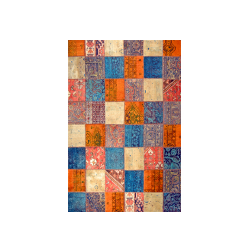 فرش خشتی ترکیبی چند رنگ (مربع)