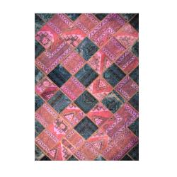 فرش خشتی ترکیبی دو رنگ