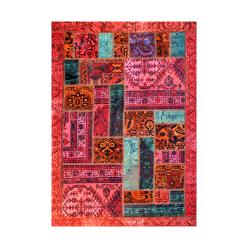 فرش خشتی ترکیبی چند رنگ حاشیه دار