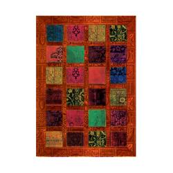 فرش شطرنجی حاشیه دار
