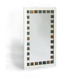 آینه دیواری و رومیزی خشتی سفید