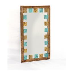 آینه دیواری و رومیزی خشتی رنگی 1380