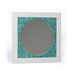 آینه دیواری و رومیزی فیروزه سفید