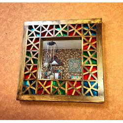 آینه دیواری و رومیزی مربع گره چینی 477