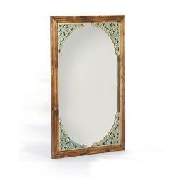 آینه دیواری و رومیزی قهوه ای خشتی 1381