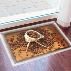 زیرپایی سه بعدی طرح قهوه