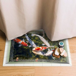 زیرپایی سه بعدی طرح ماهی