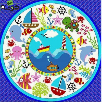 فرش حیوانات دریایی