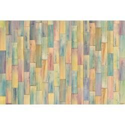 پوستر دیواری طرح چوبهای رنگارنگ