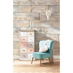 پوستر دیواری طرح چوب قدیمی
