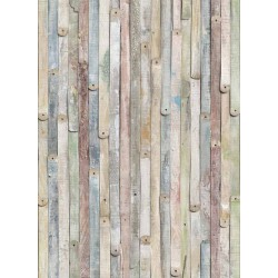 پوستر دیواری طرح چوبهای رنگی